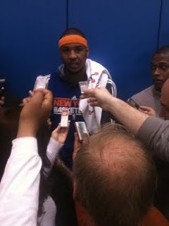 Melo ready for crazy night